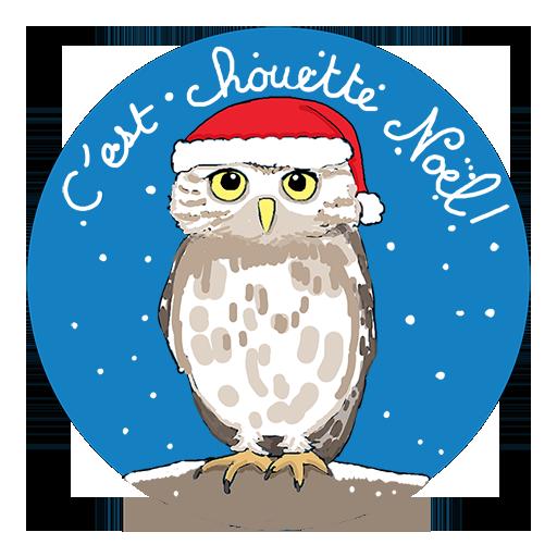 Badge C'est chouette Noël