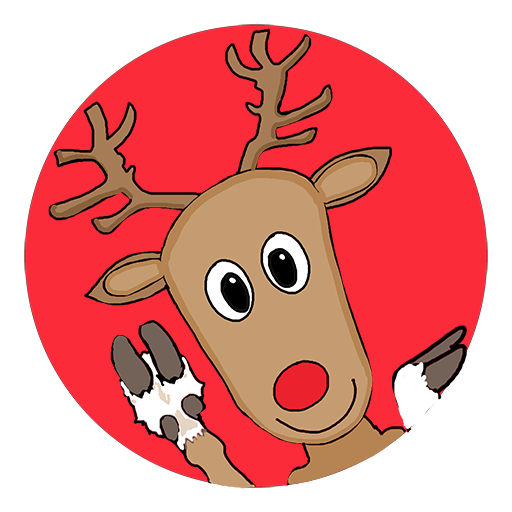 Badge du renne de Noël