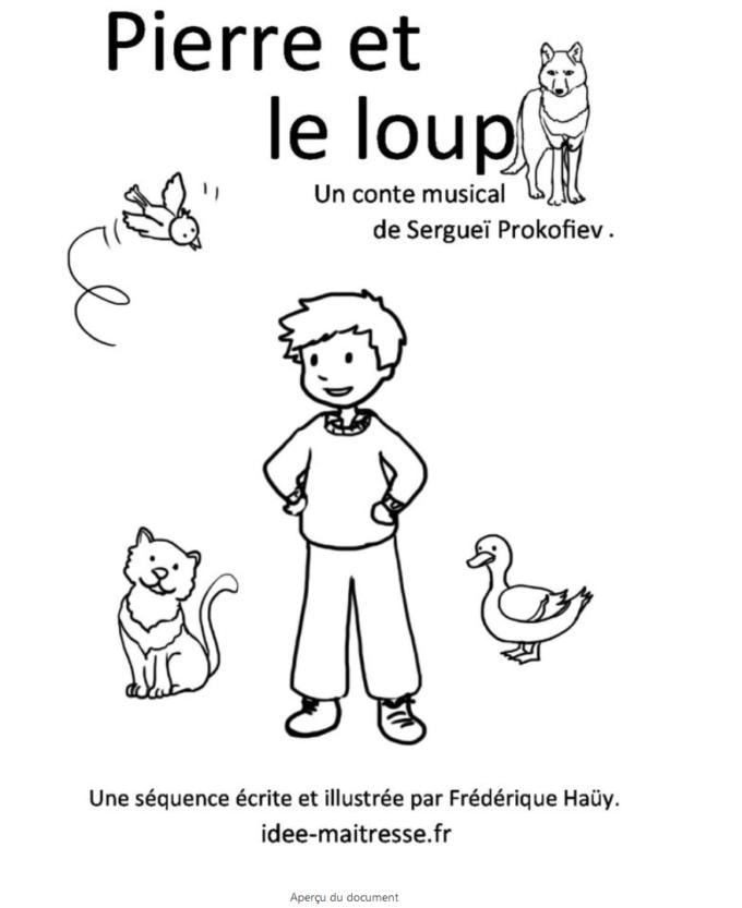 Pierre et le loup une séquence pédagogique pour la maternelle et l'élémentaire