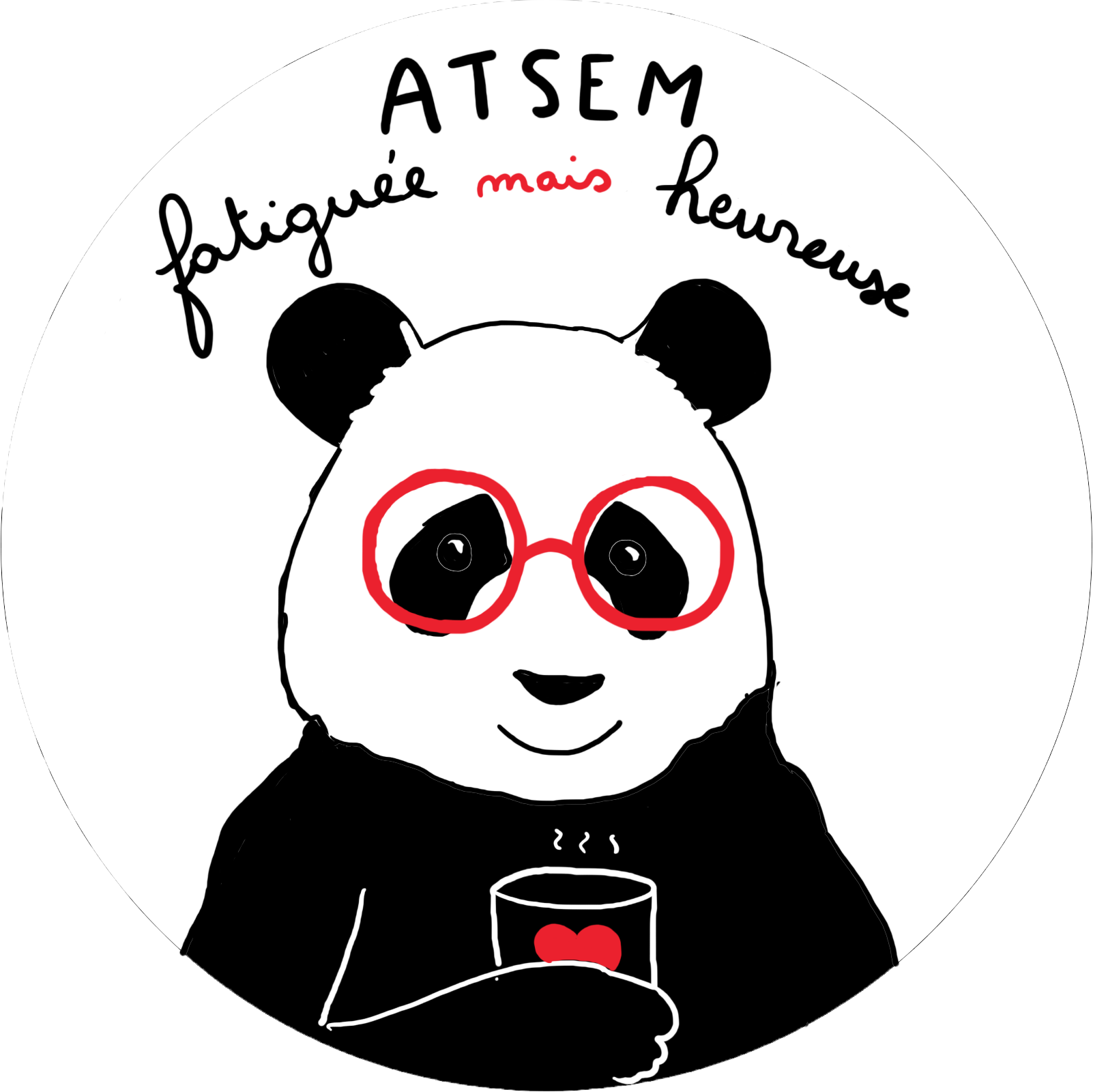 Badge Panda ATSEM