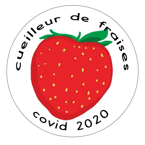 Badge cueilleur de fraises