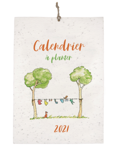 Le calendrier à semer Idée Maîtresse, illustrations sur le thème des animaux des bois